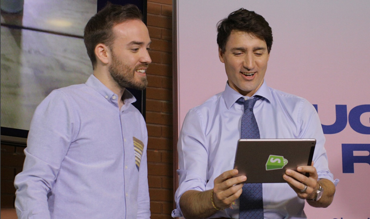 Justin Trudeau USING THE MAGNOLIA APP
